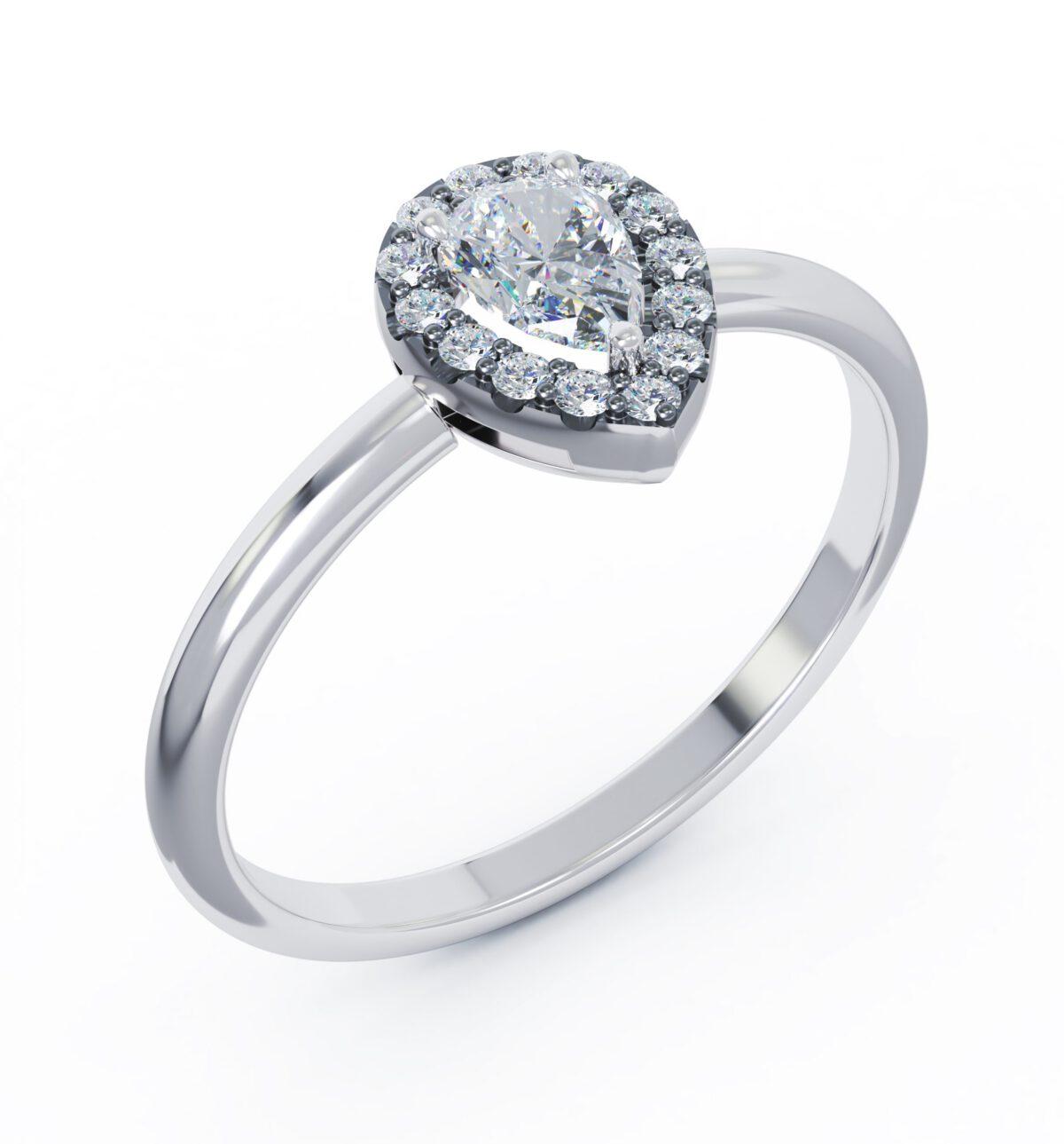Különleges eljegyzési gyűrű a szíve hölgyének